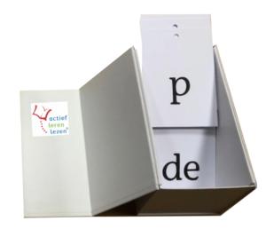 letterkaartenbox van actief leren lezen