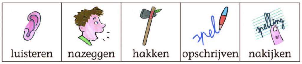 nadenkertje - rulpmiddelbij spelling bij Actief Leren Lezen