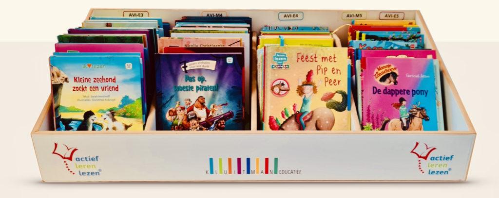 De boekenkast van Actief Leren Lezen met 150 mooie kinderboeken